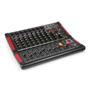 PDM-M804 Misturador de Música 8 Entradas P/ Microfone Processador FX Multi 24 Bit