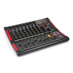 PDM-M804 music mixer 8 microfooningangen 24-bit multi FX-processor