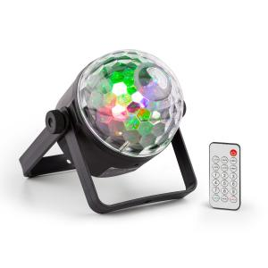 PLS35 DJ Jellyball 4 x 3W LEDs UV e vermelhas, verdes, azuis DMX/Standalone