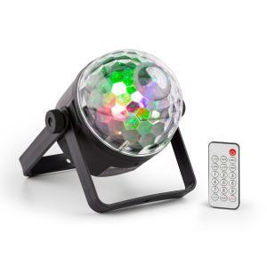 PLS35 DJ Jellyball 4 x 3W punainen, vihreä, sininen ja UV-LEDs DMX/Standalone