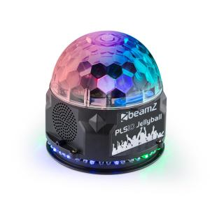 PLS10 Jelly ball 3x 1W e Tira Redonda com 48 LEDs RGB Coluna BT Leitor MP3