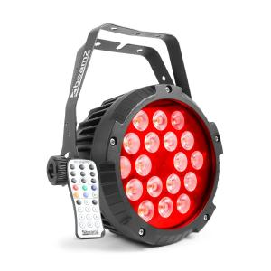 BWA418 LED PAR Spotlight 18x12W 4in1 LEDs RGBW IP65 Black