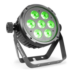BT270 LED Flat Par LED Spotlight 7x 6W 4in1 LEDs RGBW Remote Control