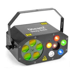 Sway Gobo Laser Gobo RGBWA, Strobe RGBWA e Laser RG Comando de Controlo Remoto