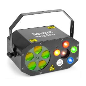 Sway Gobo Laser gobo RGBWA, stroboscoop RGBWA en laser RG afstandsbediening
