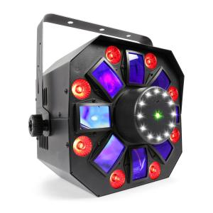 MultiAcis IV LED derby, laser, wash en stroboscoop DMX/Stand Alone modus