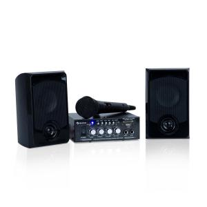 Karaoke Star 1 zestaw do karaoke 2 x 50W BT USB/SD Line-In                                             Czarny | Karaoke Star 1: 2 x 50 W / 1 Microphone