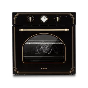 Victoria Built-in Oven Retro Design 9 Functions 50-250 ° C Black Black