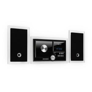 Stereosonic Wieża stereo, montaż ścienny, odtwarzacz CD, USB, BT, kolor czarny Czarny