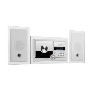 Stereosonic Stereo System, Wall Mounting, CD Player, USB, BT, White White