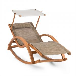 Malibu Swing Lounger with Roof ComfortMesh Cream Creme