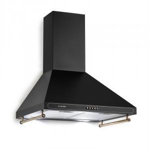 Victoria Dunstabzugshaube Retro-Design 600m³/h 2 LED-Lampen schwarz Schwarz