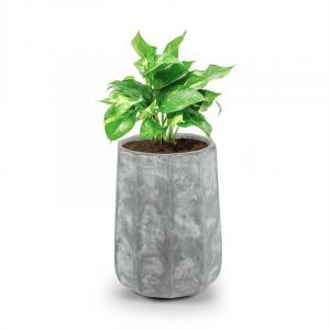 Decaflor Plant Pot 40 x 50 x 40 cm Fiberglass Indoor / Outdoor Light Grey 40 x 50 x 40 cm