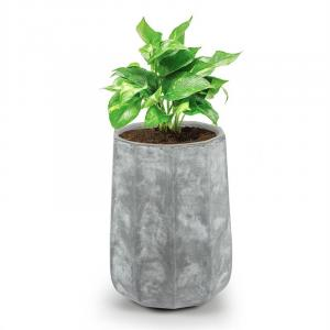 Decaflor Plant Pot 55 x 70 x 55 cm Fiberglass Indoor / Outdoor Light Grey 55 x 70 x 55 cm