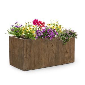 Timberflor Bac à fleurs 80 x 40 x 40 cm fibre de verre - marron 80 x 40 x 40 cm
