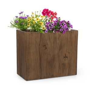 Timberflor Plant Pot 60 x 50 x 30 cm Fiberglass Indoor / Outdoor Brown 60 x 50 x 30 cm