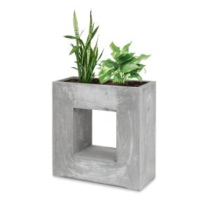 Airflor Plant Pot 70 x 70 x 27 cm Fiberglass Indoor / Outdoor Light Grey Light grey
