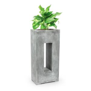 Airflor Plant Pot 45 x 100 x 27 cm Fiberglass In/Outdoor light gray Light grey