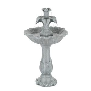 Floreal Garden Fountain Polyresin 6W Romantic Design Stone Look