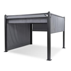 Pantheon Cortina Pavillon avec auvent 3 x 3 m 4 parties - gris Gris
