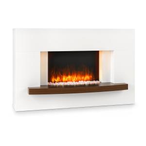 Montreux Electric Fireplace 1000 / 2000W InstaFire Remote Control White