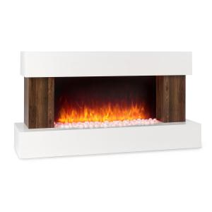 Albertville Electric Fireplace 1000/2000W InstaFire Remote Control White