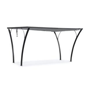 Palazzo Pavillon 4x3m Faltdach Polyester Aluminium schwarz / grau