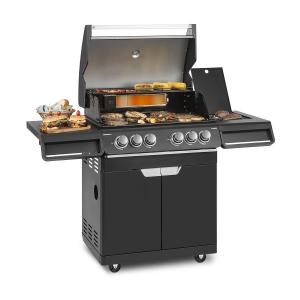 Highgrade 4 IB barbacoa a gas 6 quemadores 19,8 kW 71x46cm grill acero inoxidable