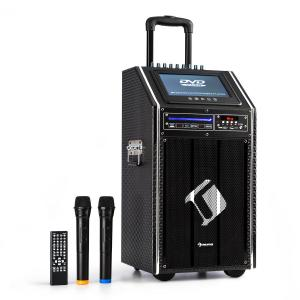 "DisGo Box 100 DVD Mobile PA System, 300 W max., 9"" TFT Display, DVD, BT"