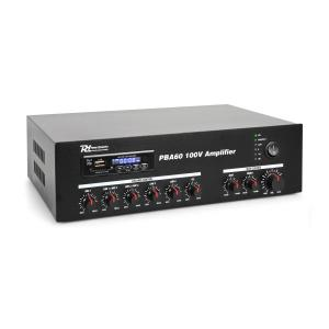 PBA60 Amplificador 100V 60 W USB/SD MP3 Bluetooth 60W