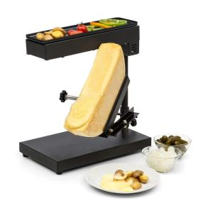 Appenzell Peak Raclette with Grill 1000W Thermostat Switch Black