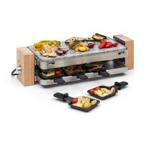 Prime-Rib Appareil à raclette pour 8 grill 1500W pierre naturelle & in