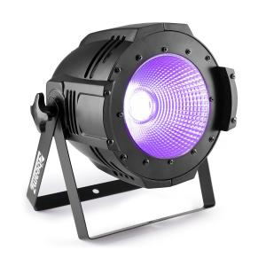 Professional COB 100UV PAR 100W UV-LED DMX of stand alone zwart