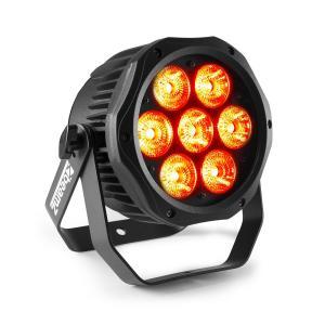 Professional BWA410 LED PAR 7 LED 10W 4in1 RGBW impermeabile nero