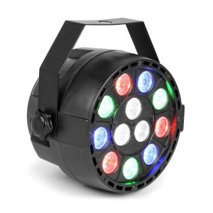 Party Foco PAR 12 x 1 W RGBW-LED 15 W DMX/Standalone/Sound 7 canales