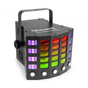 Gobo Derby 3-in-1 valonheitin RGBAW/UV-LED 60 W DMX/standalone/sound