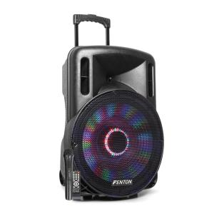 "FT15LED Active Speaker 15"" 800W BT / USB / SD / AUX LED Battery Trolley"