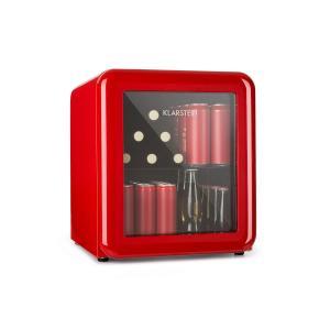 PopLife Réfrigérateur à boissons 48L Minibar 0-10°C design rétro rouge Rouge | 48 Ltr