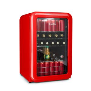 PopLife Drinks Cooler Refrigerator 115 Litres 0-10 ° C Retro Design Red Red | 115 Ltr