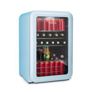 PopLife drankenkoeler koelkast 115 liter 0-10°C retrodesign blauw Blauw | 115 Ltr