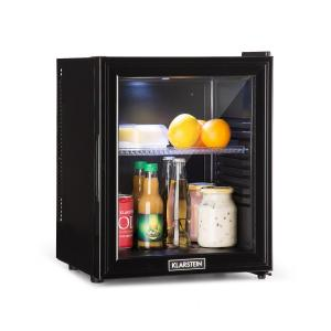 Brooklyn 24L Refrigerator A LED Plastic Insert Glass Door Black 24 Ltr