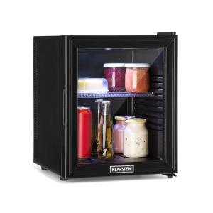 Brooklyn 32L Refrigerator A LED Plastic Insert Glass Door Black 32 Ltr