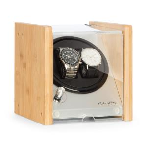 Hanoi 2 Watch Winder, 2 Watches, 3 Speeds, 4 Modes, Bamboo 2 watches