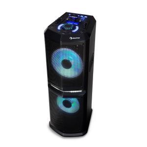 """auna Clubmaster 8000 Impianto Stereo Feste,  fino a 8000 Watt P.M.M.P.P.O, 2 Woofer da 10"""""""