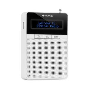 DigiPlug DAB Radio DAB+ FM/AM Bluetooth Display LCD Blanco Blanco