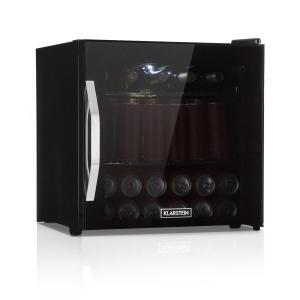 Beersafe L Onyx drankenkoelkast A++ LED 4 metalen roosters glazen deur 47 Ltr