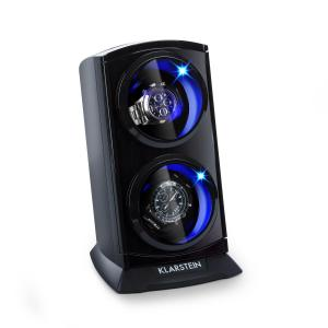 St. Gallen Premium Watch Winder 2 Watches 4 Speeds Black