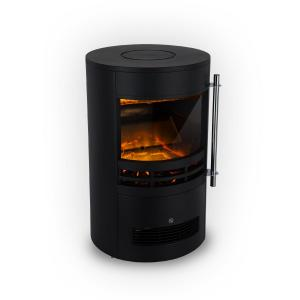 Brixen Electric Fireplace 900 / 1800W InstaFire Thermostat Black