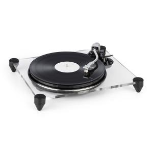 TT-Pure Turntable Record Player Acrylic Glass 33 1/3 + 45 RPM Preamp