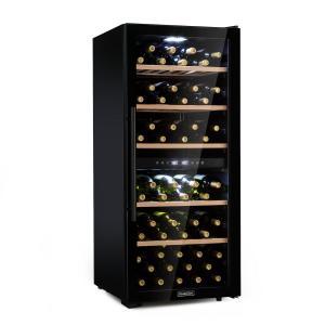 Barossa 102D viinikaappi 2 aluetta 102 pullolle kosketus LED musta 102 pullot